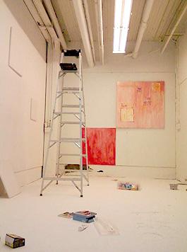 写真:山本しほり drwaing installationのクラスで使用している個人スタジオ