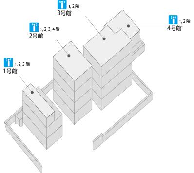 吉祥寺校マップ:無線LANの使える場所