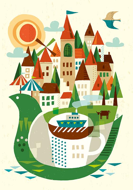 illustrator・スズキトモコ個展 『FLAVOR 〜旅と紅茶と風景と』