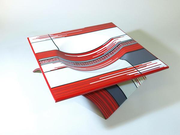光彩と幾何のモザイク  鍋田尚男ガラス作品展