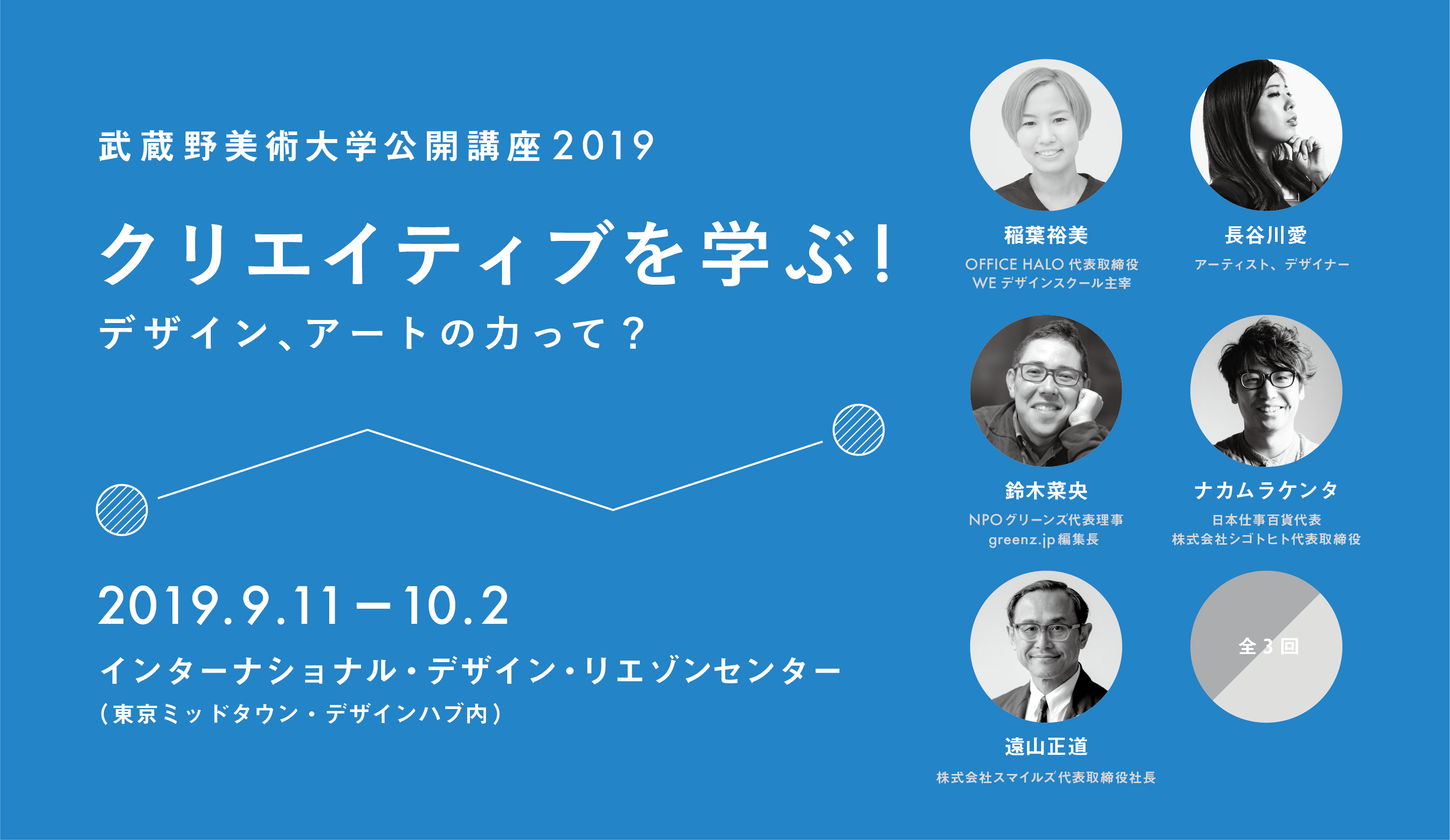公開講座2019「クリエイティブを学ぶ!~デザイン、アートの力って?」